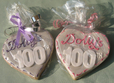 My Grandmothers 100th Birthday biscuits ( cookies)