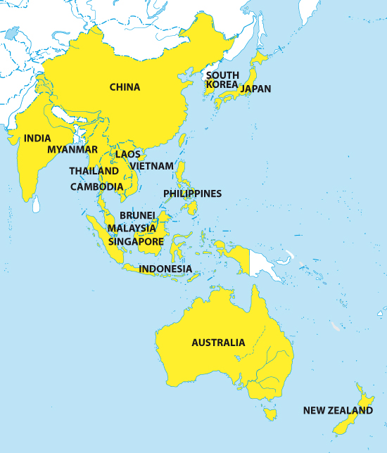 Regional Map Of Asia.The Geo Trade Blog A New Regional Comprehensive Economic