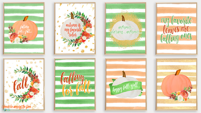 Watercolor and Floral Fall Printables