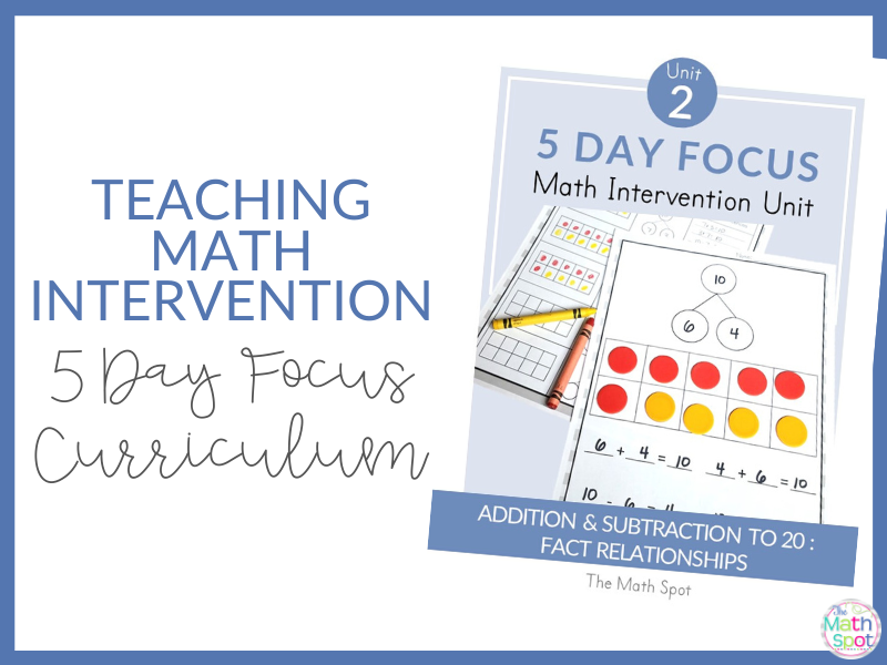All About 5 Day Focus Math Intervention Curriculum