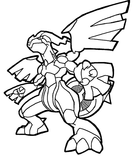 Coloriage Pokemon Zekrom  Colorier Dessin  Imprimer With Pokemon Coloring  Pages Black And White Zekrom