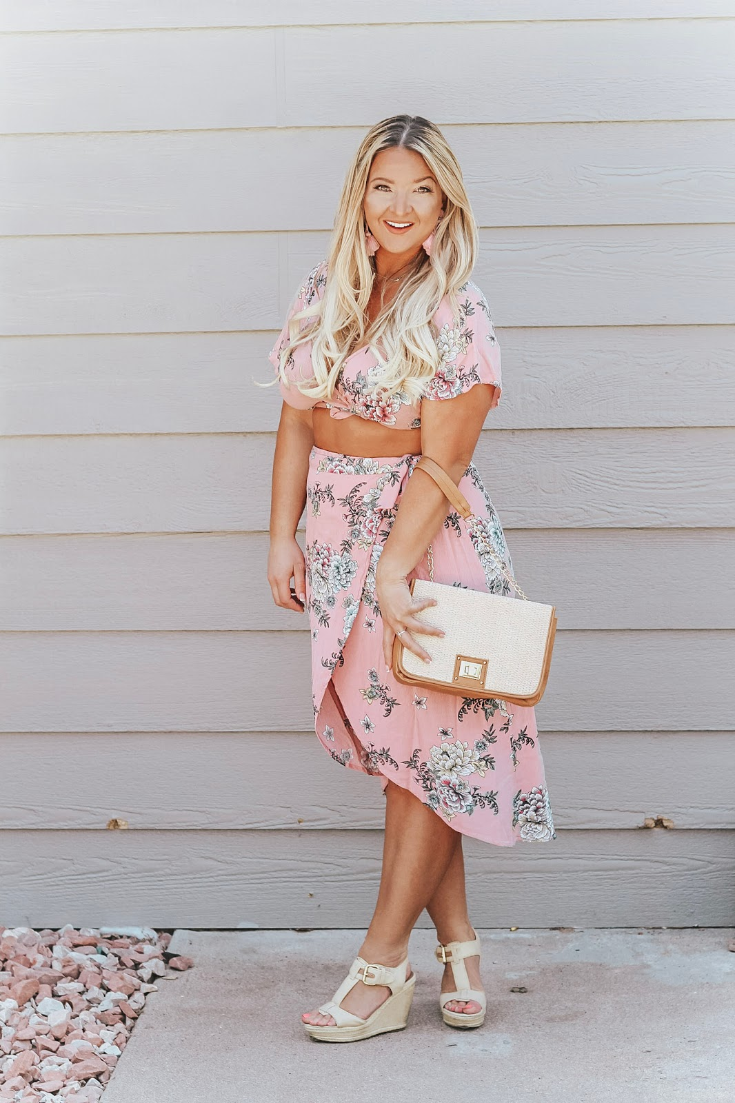 Two Piece Set for Curvy girls featured by popular Denver fashion blogger, Delayna Denaye