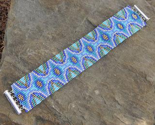 купить широкий бисерный браслет купить украшения из бисера подарок девушке