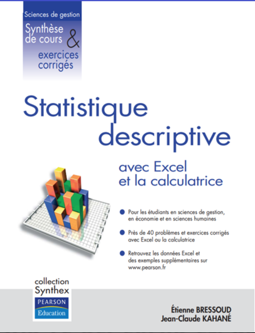 grande biblioth u00e8que   statistique descriptive avec excel