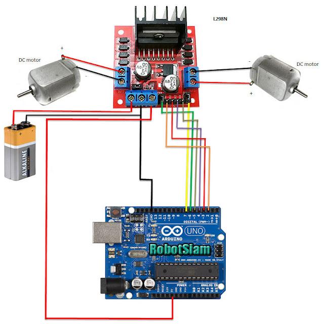 โรบอทสยาม โครงงานหุ่นยนต์ โปรเจคหุ่นยนต์ arduino การใช้