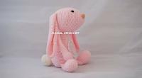 conejo amigurumi rosa de canal crochet