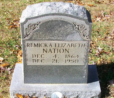 Tombstone Tuesday - Remicka Elizabeth Nation