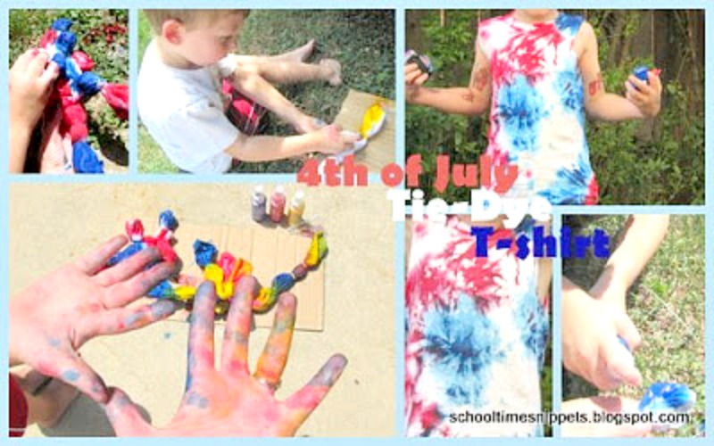 summer tie dye tshirt activity