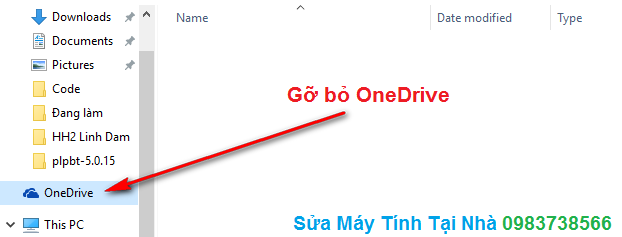 Gỡ bỏ OneDrive trong Windows 10