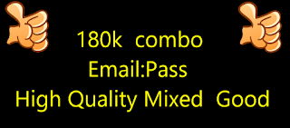 180k  combo Email:Pass High Quality Mixed  Good