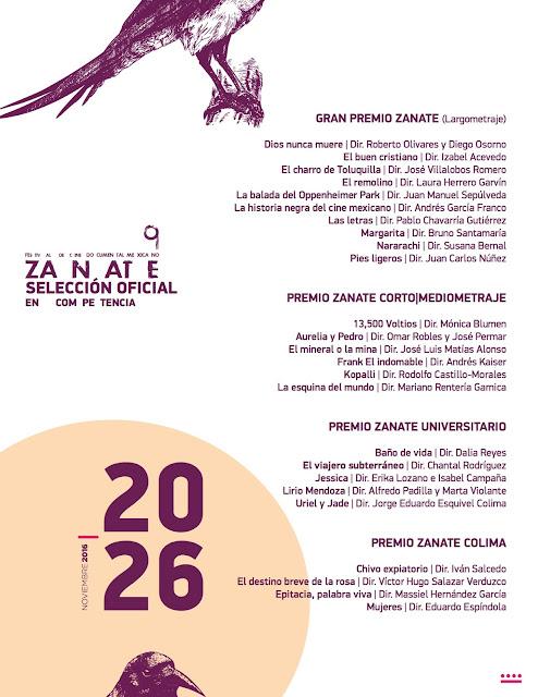 seleccion oficial festival zanate 2016