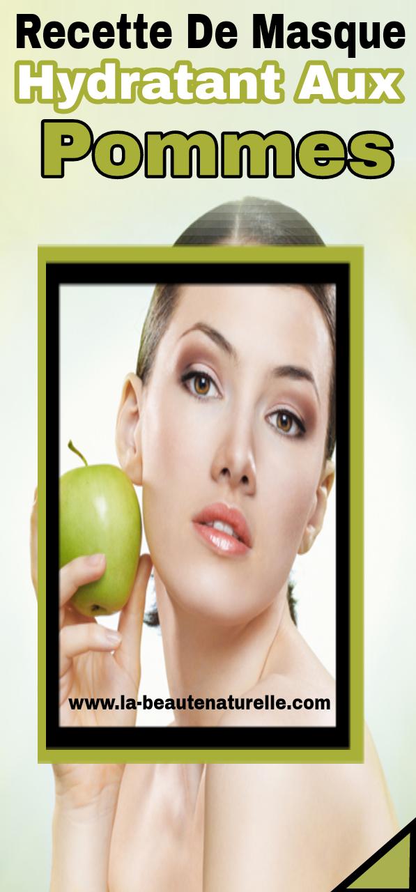 Recette de masque hydratant aux pommes