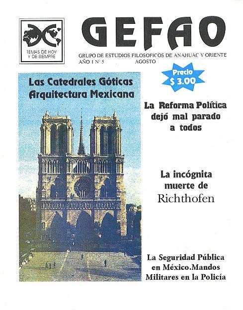 Las Catedrales Goticas Arquitectura Mexicana Revista GEFAO