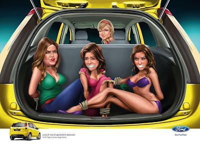 Paris Hilton Campaña de Ford Publicidad Creatividad