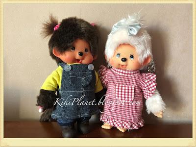 kiki monchhichi fait main handmade couture sewing vêtement poupée doll