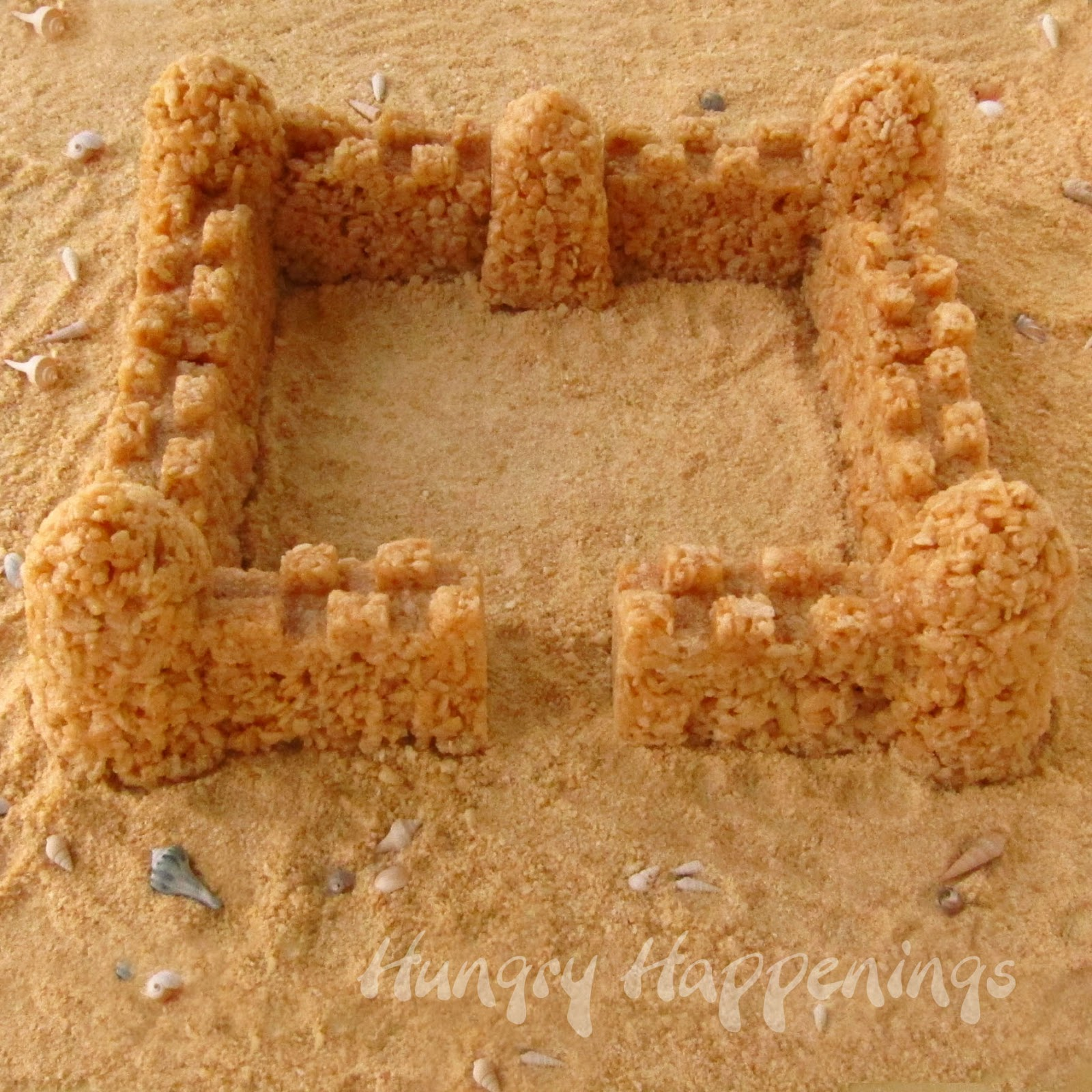 Caramel Rice Krispies Treat Sand Castle Hungry Happenings