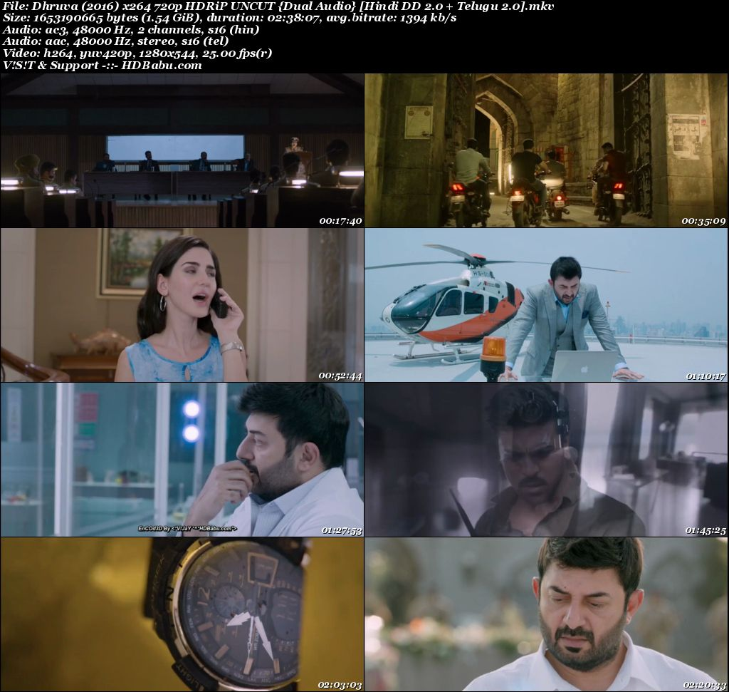 Dhruva (2017) 720p Un-Cut HDRip {Hindi - Telugu} 1.5 GB Screenshot