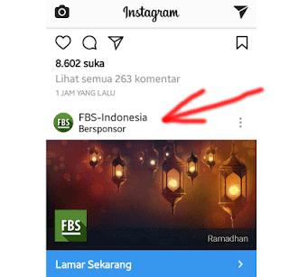 bersponsor di instagram