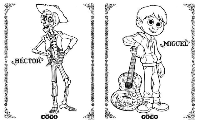 Dibujos para colorear de Coco