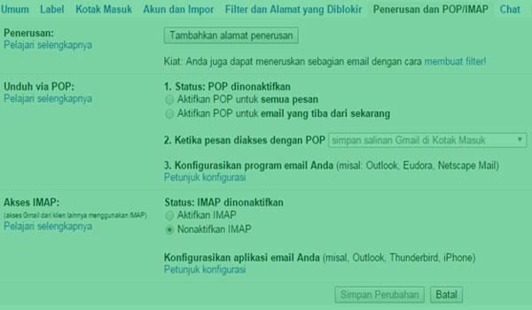 Cara Mudah Mengalihkan Semua Email Ke Akun Lain Secara Otomatis