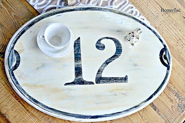 Enamel House Number Tray