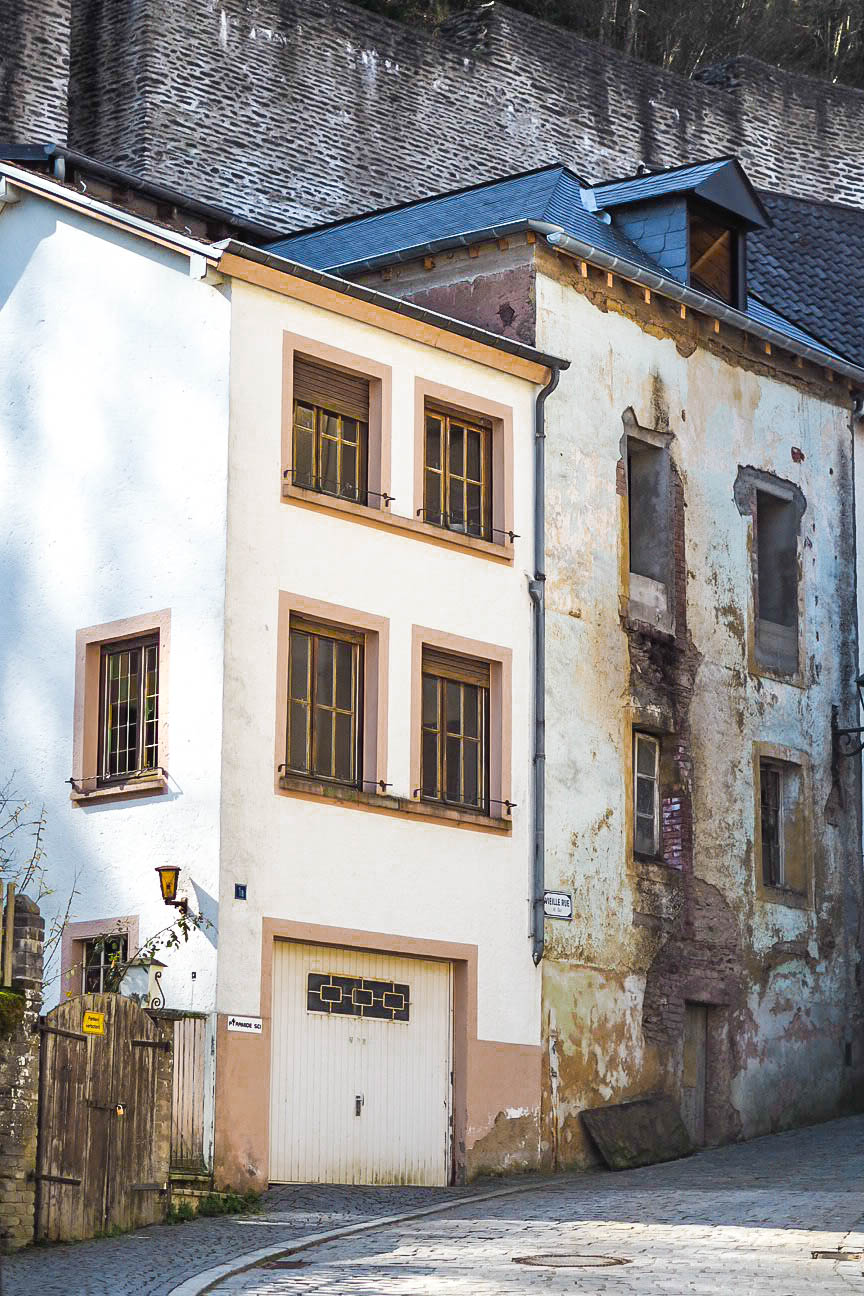 Dilapidated house in Vianden