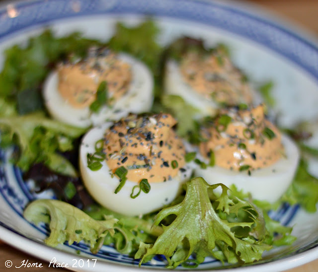 The Cook and The Bear Smoked Salmon Deviled Eggs
