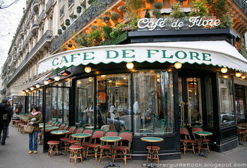 Tempat wisata terkenal di Paris Perancis Stylish Classic Cafe de Flore Paris