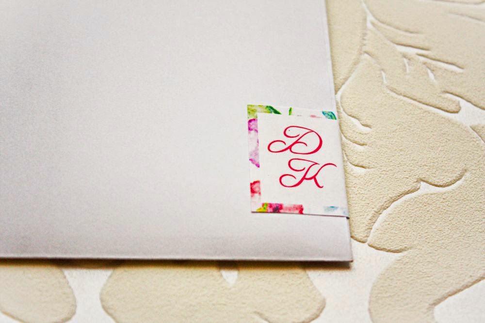 Naklejki ślubne na koperty Akwarelove by Artirea