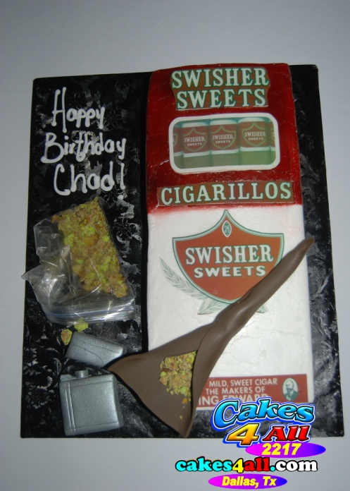 Birthday Cake With Blunts