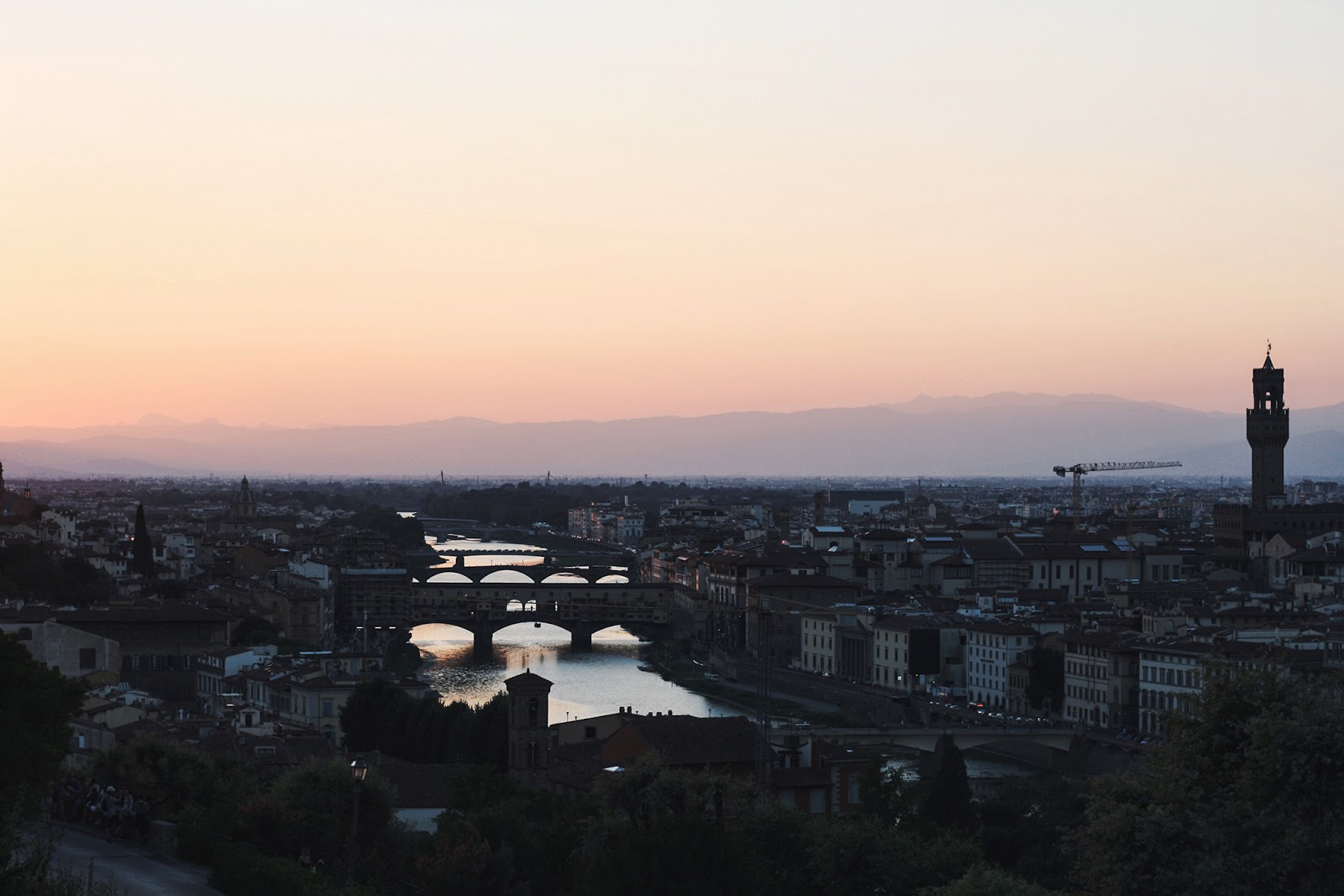 One day in Florence Piazzale Michelangelo sunset