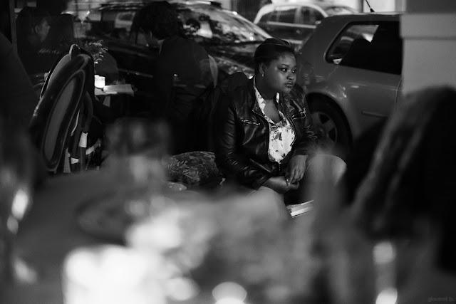 Street portrait in bianco e nero