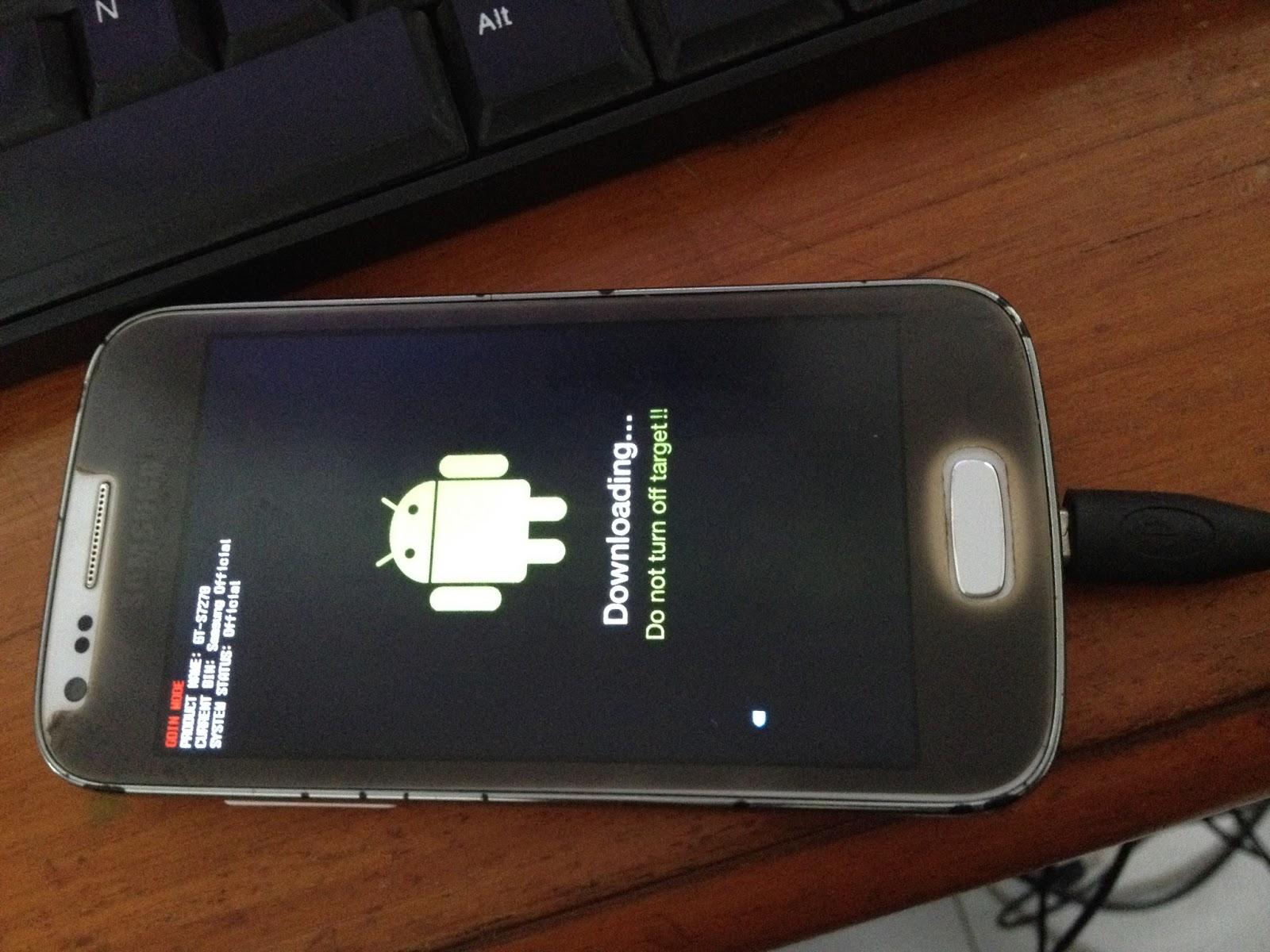 Hubungkan smartphone dengan puter lewat kabel data Jika puter mendeteksi perangkat samrtphone brosis maka akan muncul 0 [ ]