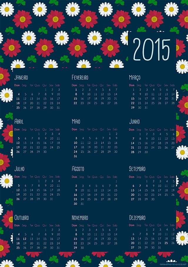 Calendários 2015 pra download - Amavelmente Irônica