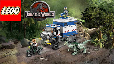 Legoland Coloring Science Fiction Dinosaur Lego Jurassic World Raptor Rampage 75917 constructing Kit