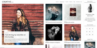 creative blog blogger template