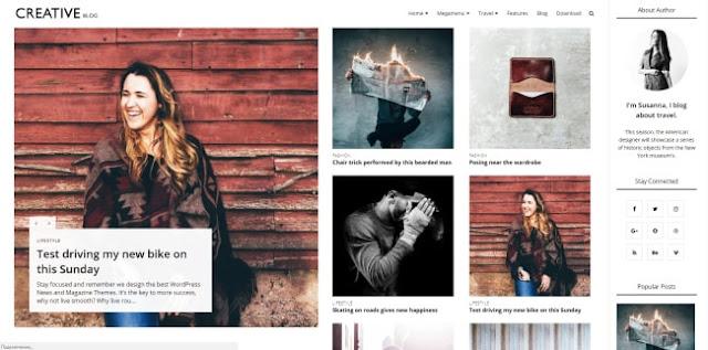 creative blog blogger template