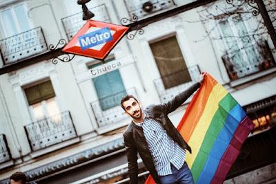 chueca bandera de orgullo gay