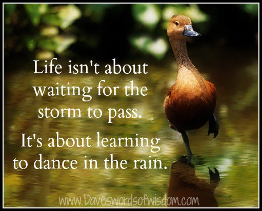 Life Isn T About Waiting For The Storm To Pass It S About Learning To Dance In The Rain God