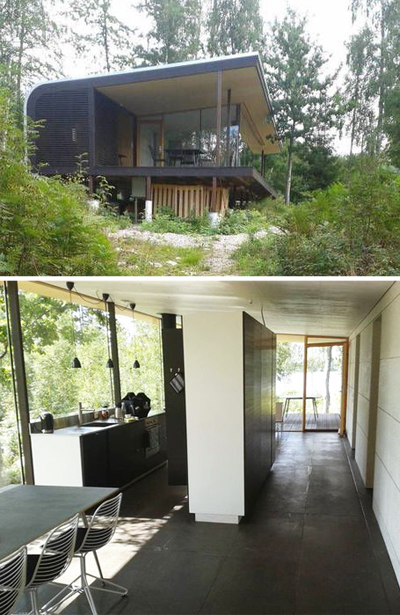 vacation cabin, sweden, authentic, woods, lake, architectural