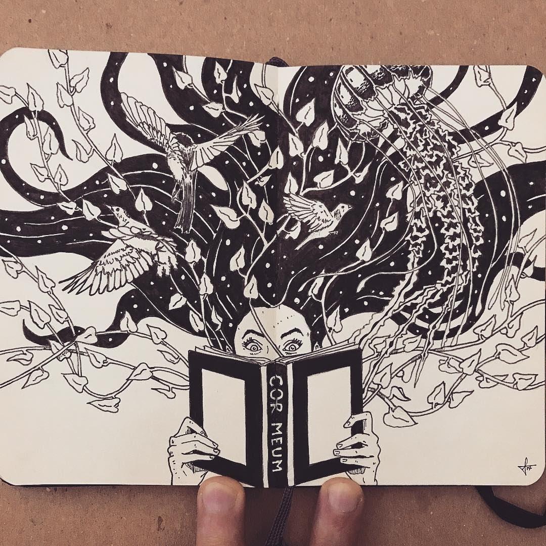 01-Discover-Francisco-Del-Carpio-Moleskine-Black-and-White-Ink-Drawings-www-designstack-co