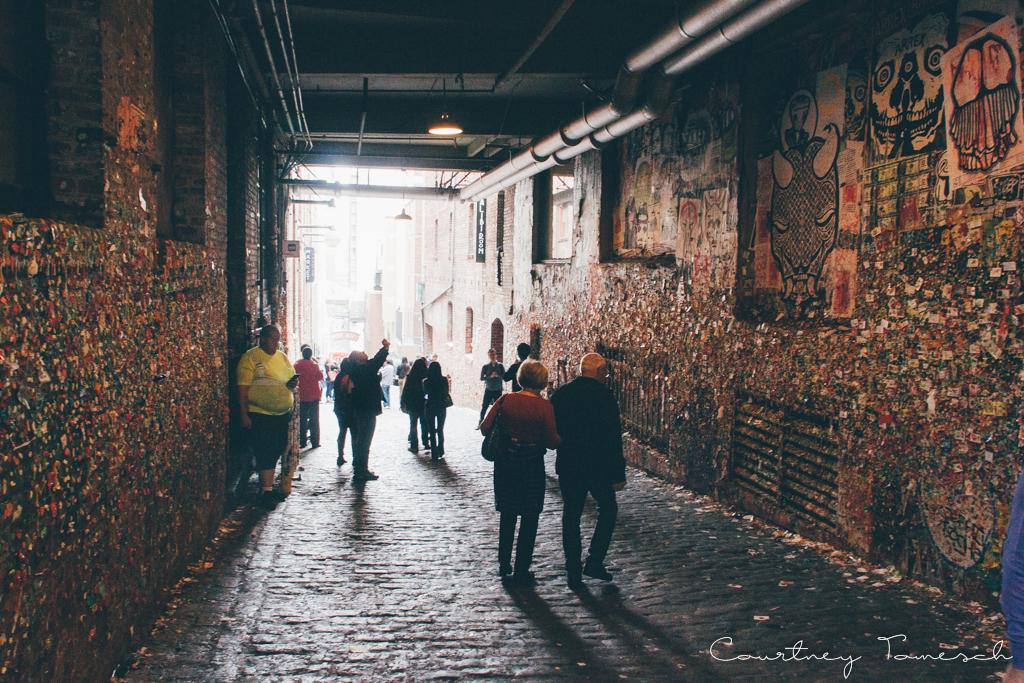 Courtney Tomesch Seattle Washington Pike Place Market Gum Wall