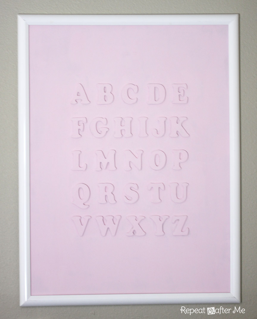 DIY Alphabet Wall Art - Repeat Crafter Me