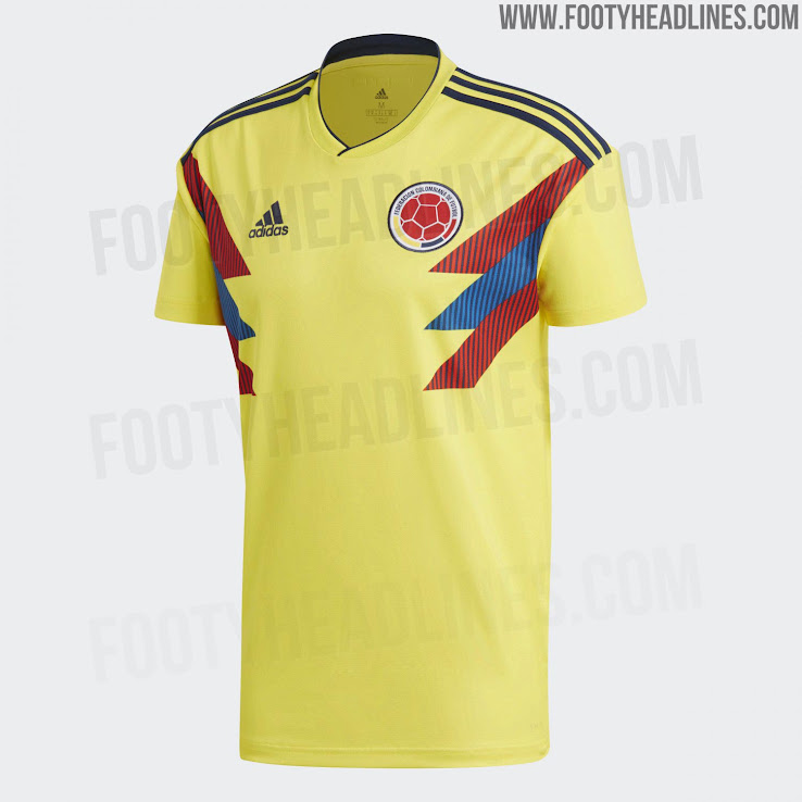 Colombia 2018 World Cup Home Kit Released - Footy Headlines d733fcc28