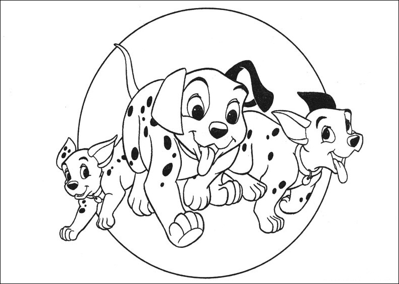 free101 dalmation coloring pages - photo#5