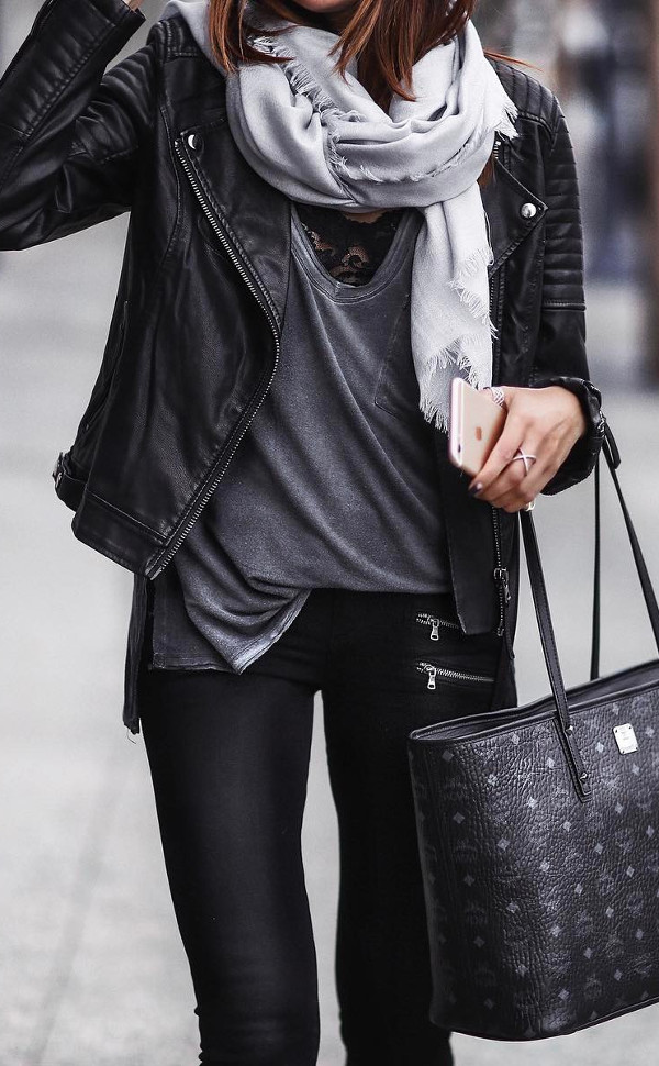 many ways to wear leather jacket