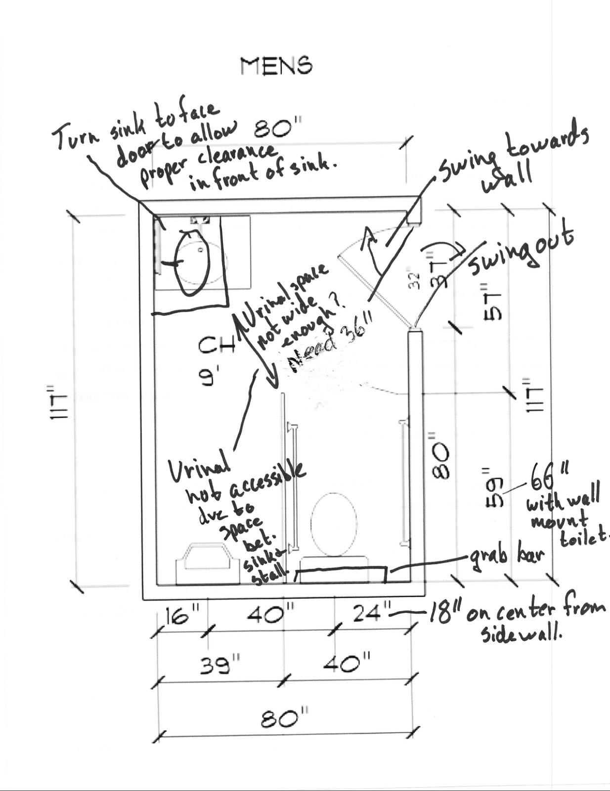 Ada Redesigning A Public Men S Bathroom Based On Ada