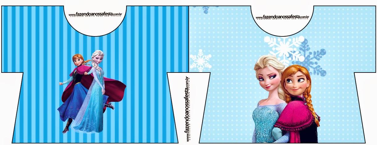 Tarjeta con forma de camisa de Frozen en Navidad Azul.