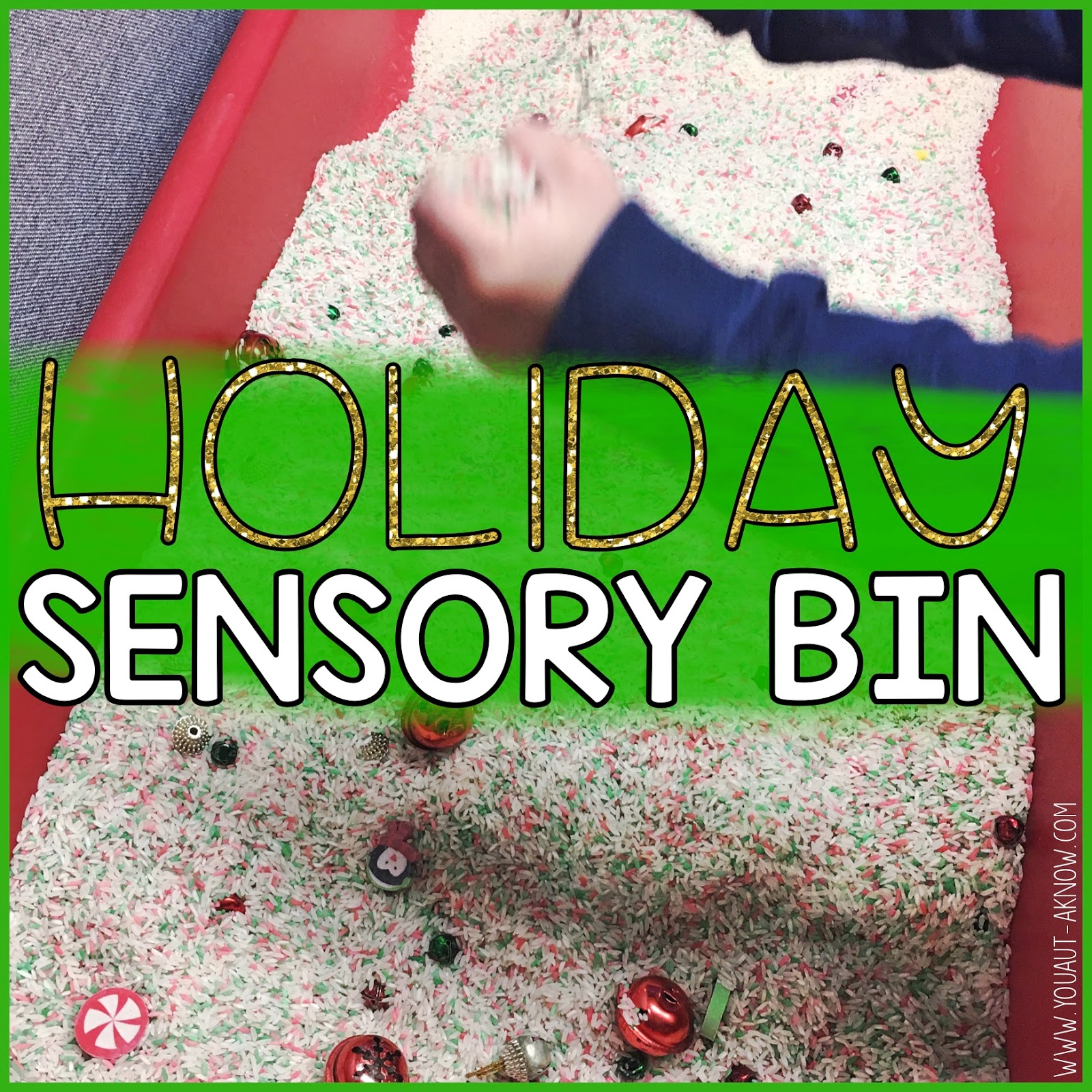 We love sensory bins! Check out this fun Christmas themed sensory bin. Nothing is better in my Autism classroom during the December holidays! My students just love it.