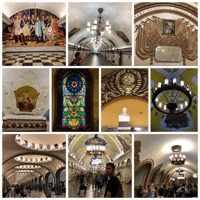 ESTAÇÕES de Metro de MOSCOVO